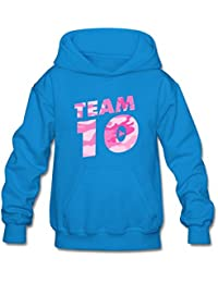 Youth Pink Camo Team 10 Hoodie Sweatshirt Suitable For 10-15yr Old
