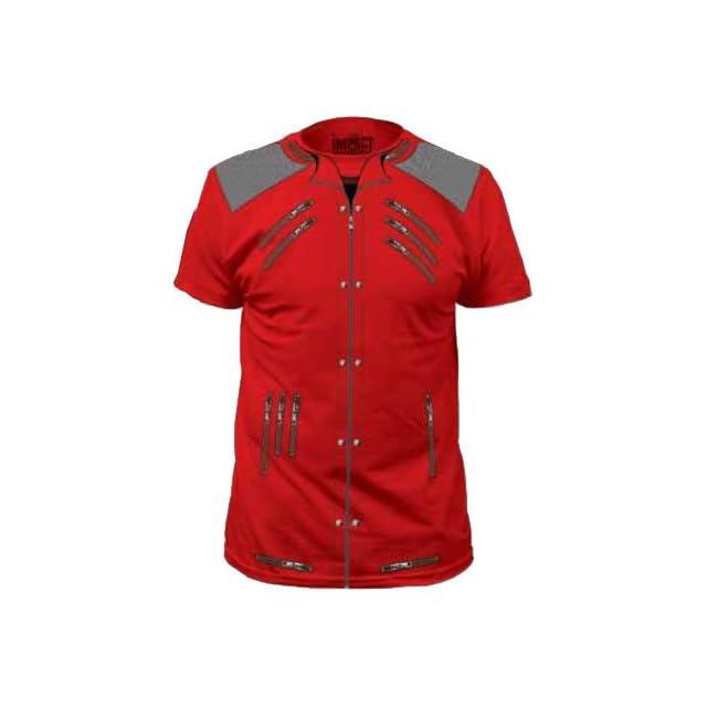 Michael Jackson 80s Pop Jacket Red Adult Costume T shirt