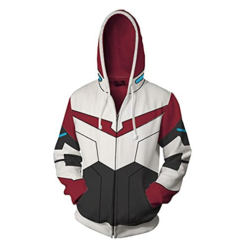 VOSTE Anime Cartoon Cosplay Lance Hoodie 3D Printed Keith Zipper Jacket (Small, Color 1) by VOSTE