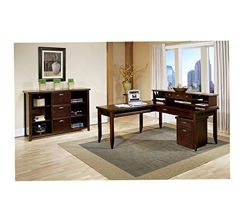 Wood & Style Furniture Home by Martin Tribeca Loft Cherry L-Shaped Writing Desk Premium Office Home Durable Strong