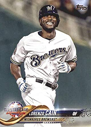 new concept 3c0bc a94f6 Amazon.com: 2018 MLB Topps Update US186 Lorenzo Cain ...