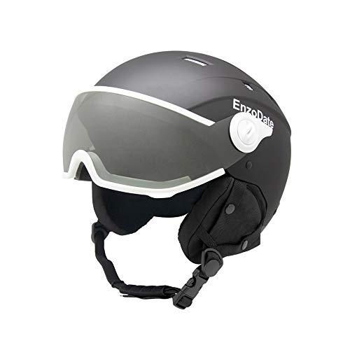 2 in 1 Visor Ski Snowboard Helmet Detachable Snow Mask Integrated Snowboard Goggle Shield Exchangeable Night Skiing Lens Anti-Fog UV400 ()