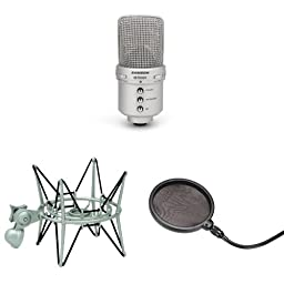 Samson G Track Microphone with Shockmount and Pop Filter
