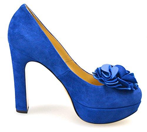 Code Shoes c Elettrico cpa2he set Woman Suede Blu Electric Heel Twin A2 Decolte Blue q8ZwIqUa