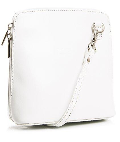 de ABBY z Pequeño para con suave bolsa de protectora piel bolso Blanco mujer hombro LiaTalia crossbody wgqHUF0qx