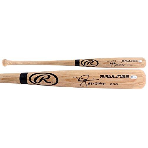 Mark McGwire Oakland Athletics Autographed Rawlings Blonde Big Stick Bat with 89 WS Champs Inscription - Fanatics Authentic ()