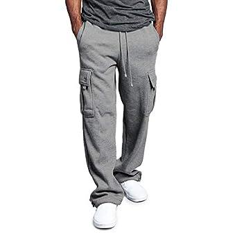 SODIAL Nuevo Pantalones de Chándal Cintura Elástica con Cordón de ...