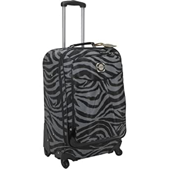 """Kathy Van Zeeland Travelware Exotic Edge 24"""" Exp Spinner (Grey/Black)"""