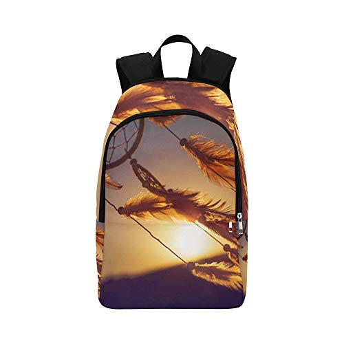 (Dreamcatcher in Windy Day Casual Daypack Travel Bag College School Backpack for Mens and Women)