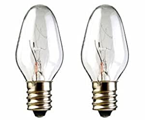 2 Pack 15 Watt Bulbs For Scentsy Plug In Nightlight Warmer