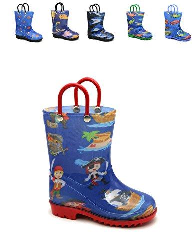 Storm Kidz Kids Boys Printed Rainboots, Pirates Toddler 9