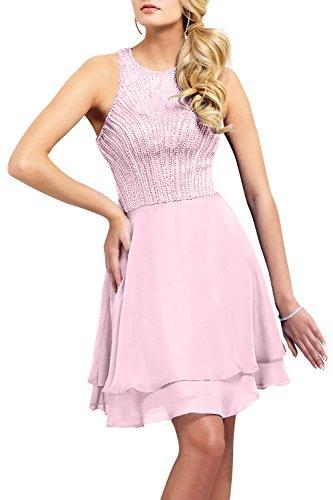 Kurz Neu mia Rosa Partykleider Abendkleider Mini 2018 Promkleider Perlen La Cocktailkleider Dunkel Brau Festlichkleider UPxqHw6