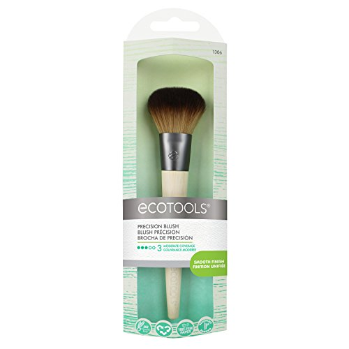 EcoTools Precision Blush Brush Control Contour & Sculpt Powder or Cream Blush (Best Drugstore Cream Blush)