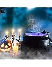 Halloween Heksenketel Fog Maker met 12 LED-verlichting Halloween Mist Maker, Halloween Party Mist Maker, Halloween Party Mist Maker Fogger Fontein Vijver Mist Halloween Binnen/Buiten Decoratie