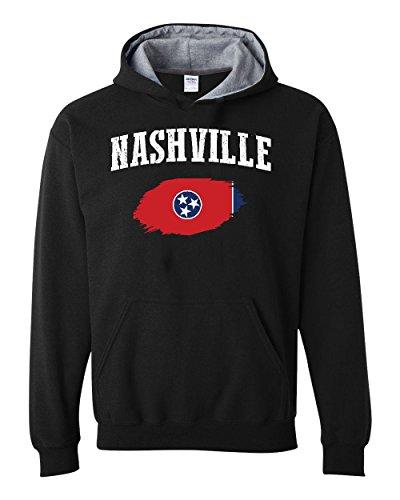 - NIB Nashville Tennessee Flag Traveler`s Gift Unisex Hoodies Conrast Color