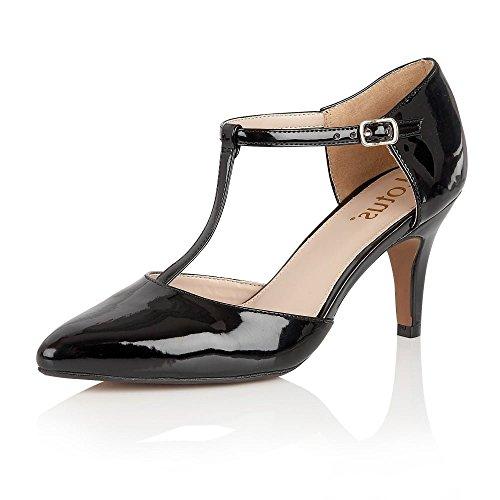 Lotus Camomile - Zapatos Mujer Black (Black Shiny)