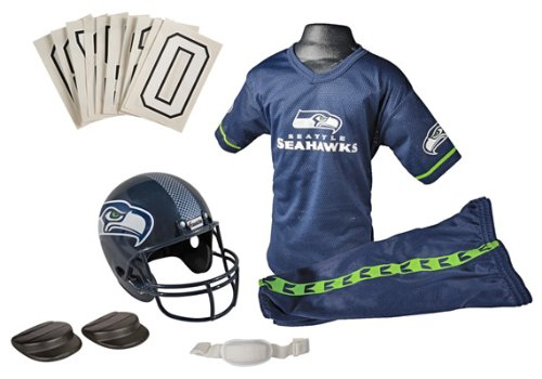 Franklin Sports NFL Seahawks Deluxe Uniform Set - Medium