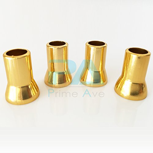 (Prime Ave PA Valve STEM Sleeve Cover TR413 - Plated Brass Polished Finish (Gold))