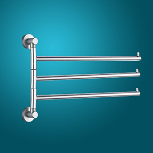 Aluminum Towel Bars Solid Activity In Space/180 Retractable Towel Rack/  Bathroom Hanging Bar