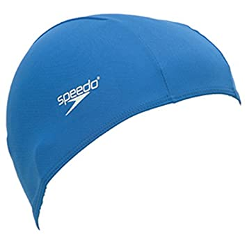 Speedo Junior Polyester Cap Blue  Amazon.co.uk  Sports   Outdoors d346b1e464e4