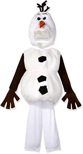 Toddler Boy Costumes (Disguise Baby's Disney Frozen Olaf Deluxe Toddler Costume,White,Toddler S (2T))