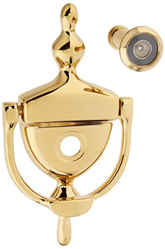 (Deltana DKV630CR003 Door Knocker with Viewer 1-3/4-Inch Max Door Thickness by Deltana)