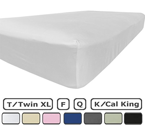 Fitted Sheet Only - 100% Brushed Microfiber - Deep Pocket - Pieces Sold Separately for Set - 100% Satisfaction Guarantee (Twin XL - Deep Pocket, White)