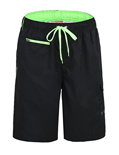 Nonwe Men's Beachwear Swim Trunks Quick Dry Zipper Pockets Lining – DiZiSports Store