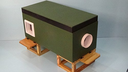 XLG Heated Feral Cat House by STABOB'S HANDCRAFTED PET HOUSES