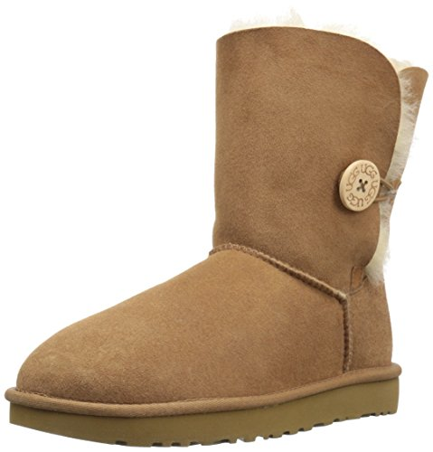 - UGG Women's Bailey Button II Winter Boot, Chestnut, 9 B US