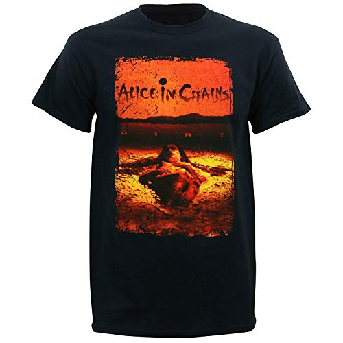 Kings Road Alice In Chains Men's Dirt Album Cover T-Shirt L, Black