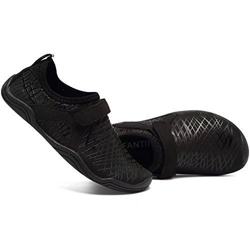 CIOR FANTINY Jungen & Mädchen Wasser Schuhe Leichte Komfort Sohle Leicht Walking Athletisch Slip Auf Aqua Socke (Kleinkind / kleines Kind / großes Kind) (Kleinkind / kleines Kind / großes Kind) K.black