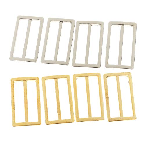 D DOLITY 8ピース ブラジャー アジャスター 日型 ストラップ スライド バックル 調節可能 裁縫材料の商品画像