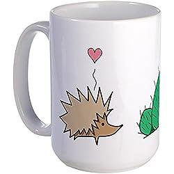 CafePress Large Hedgehog Loves Cactus Mug