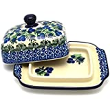 Polish Pottery Butter Dish - Huckleberry