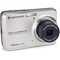 AGFAPHOTO Precisa 1430 1430SL 14.1 MP Digital Camera with 3x Optical Zoom and 2.4-Inch Auto Brightness LCD (Silver)