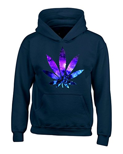 Marijuana Leaf Galaxy Hoodies #61367 Weed Smokers Hoodies Medium Navy