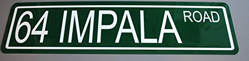 Motown Automotive Design METAL STREET SIGN 1964 64 IMPALA ROAD 6 x 24