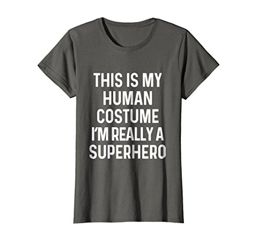Womens Funny Superhero Costume Shirt Halloween Kids Adult