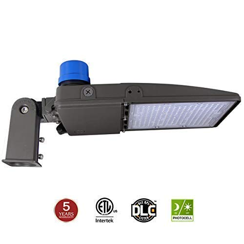 Kadision LED Parking Lot Light 200W (600W Equiv.), LED Shoebox Street Pole Lights with Dusk to Dawn Photocell, Slip Mount Included, 5000K 26000LM 100-277V IP65 ETL DLC Listed 5-Year Warranty