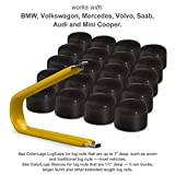 lug caps - ColorLugs Vinyl BoltCap Cover Black | Flexible Fit Bolt Nut Cap | Fits 19mm wide x ½ Inch deep | Pack of 20 & Deluxe Extractor | Available in a Variety of Colors | Made in the USA