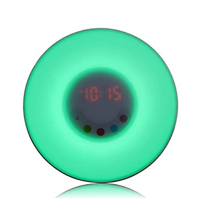 Wake Up Light Alarm Clock with FM Radio Bedside Lamp - Wake-up Light Gradually increasing light / Several Colors/ Multible Intensity Levels Night Light