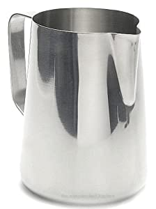 New Large 50 oz. (Ounce) Espresso Coffee Milk Frothing Pitcher, Steaming Frothing Pitcher, Stainless Steel (18/10 Gauge) by Update International