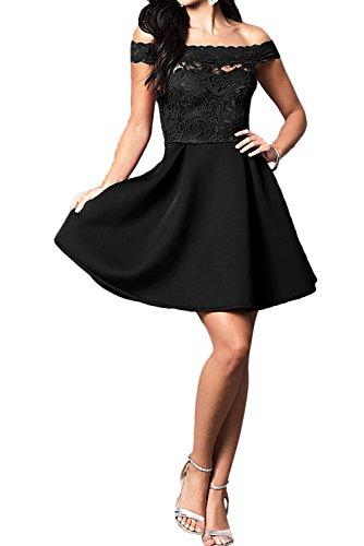 Spitze Kurz Ballkleid Linie Partykleider U Abendkleider Damen Ausschnitt Ivydressing A Schwarz P5anFBFx