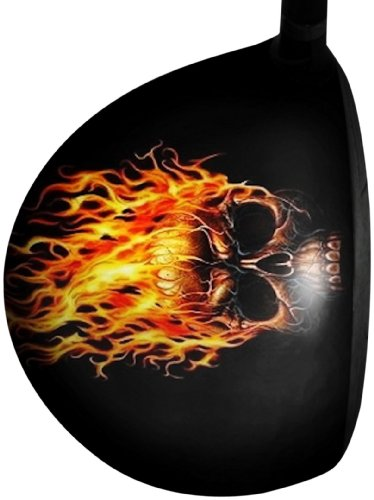 Big Wigz Skins Skull With Fire (Right Hand), Outdoor Stuffs