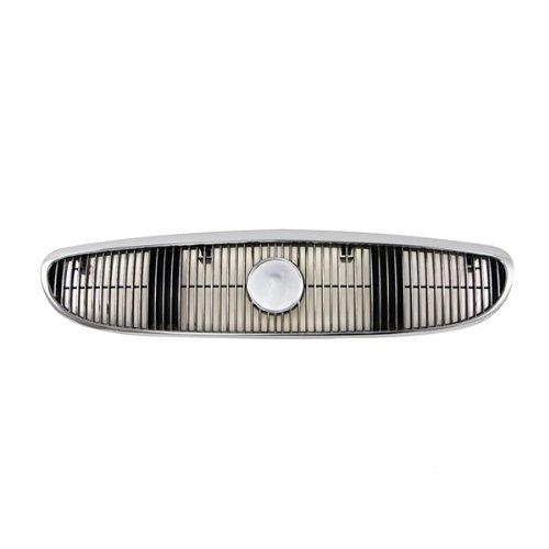 CarPartsDepot, Front Grill Grille w/o Emblem Assembly Chrome Frame Black Inert, 400-131105 GM1200405 10424876