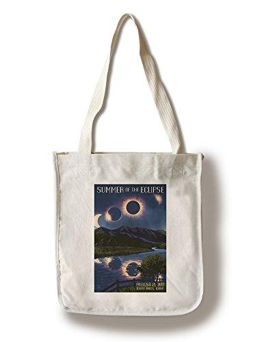 Idaho Falls, Idaho - Solar Eclipse 2017 - Summer of the Eclipse (100% Cotton Tote Bag - - Falls In Idaho Shopping