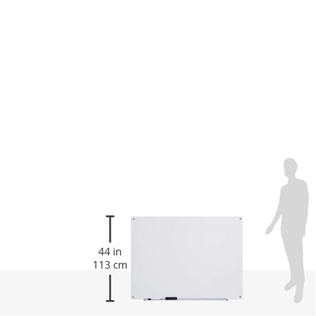 Basics Esmerilada Pizarra de borrado en seco de vidrio no magn/ética 1,21 x 0,91 m