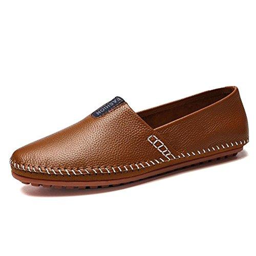 CAI Herren Schuhe Mikrofaser Leder Faule Schuhe Fruumlhjahr/Sommer/Herbst/Winter Komfort/Light Sohlen Loafers  Slip Ons Herren Wanderschuhe/Driving Shoes (Farbe : Braun  Größe : 45) Braun