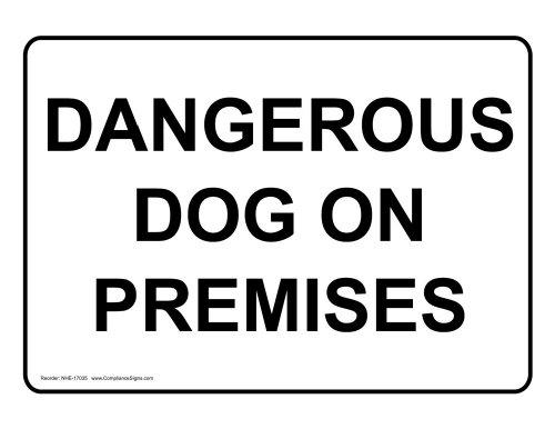 ComplianceSigns Aluminum Beware of Dog Sign, 10 x 7 in. w...